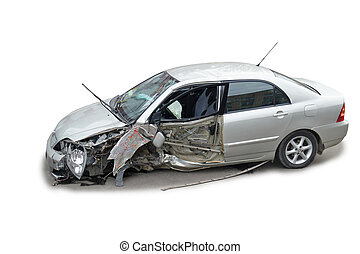 Ein abgestürztes Auto