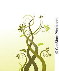 Ein abstrakter Blumenvevektor Hintergrund.