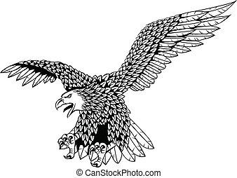 Ein Adlervektor