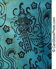 Ein afrikanischer Batik druckt Baumwollhemd