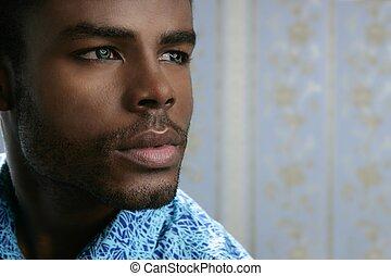 Ein afrikanisches amerikanisches süßes schwarzes Porträt