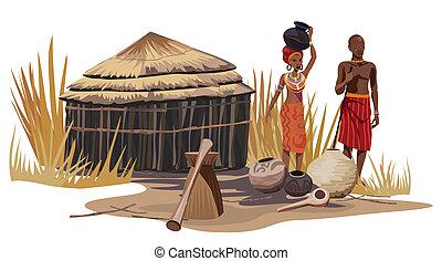 Ein afrikanisches Dorf