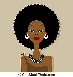 Ein afrikanisches Frauenporträt für dein Design