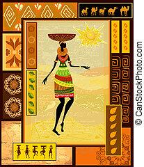 Ein afrikanisches Mädchen in Dekoration