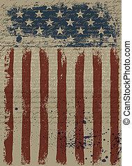 Ein alter amerikanischer patriotischer Hintergrund. Drehmoment, EPS10.