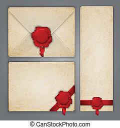 Ein alter Briefumschlag mit Wachssiegel