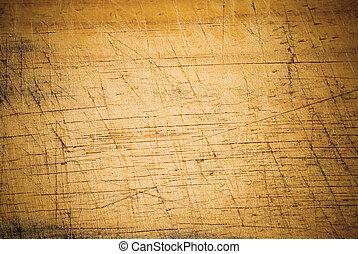 Ein alter Holzboden mit Schnittlinie.