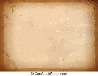 Ein alter Papierrahmen