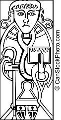 Ein altes, keltisches Symbol des Heiligen luke