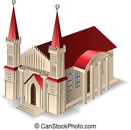 Ein altes Kirchengebäude