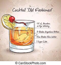 Ein altmodischer Cocktail.