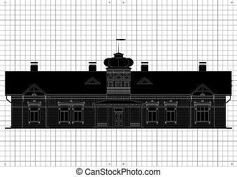Ein architektonischer Bauplan