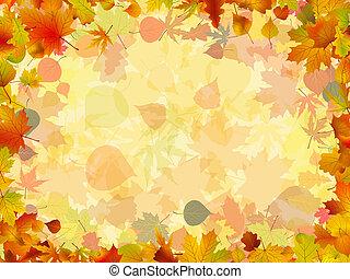 Ein Bild aus bunten Herbstblättern. EPS 8