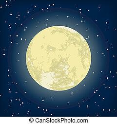 Ein Bild des Mondes in der Nacht. EPS 8