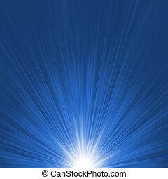 Ein blau-weißes Leuchtsignal. EPS 8
