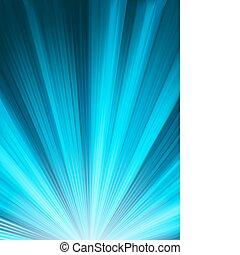 Ein blaues Farbmuster mit einem Knall. EPS 8