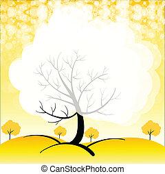 Ein Briefpapier mit Bäumen