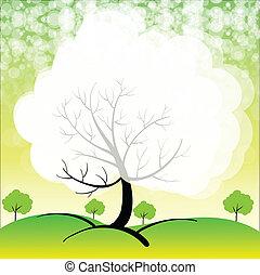 Ein Briefpapier mit Bäumen.