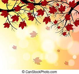 Ein Briefpapier mit fallenden Blättern