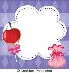 Ein Briefpapier mit Süßigkeiten