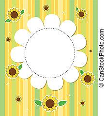 Ein Briefpapier mit Sonnenblumen
