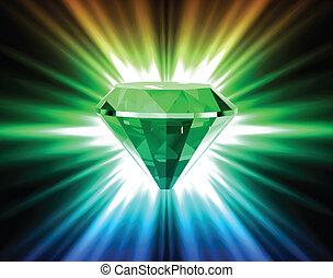 Ein bunter Diamant im Hintergrund. Vector