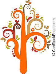 Ein bunter Vektorbaum