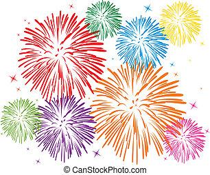 Ein buntes Feuerwerk
