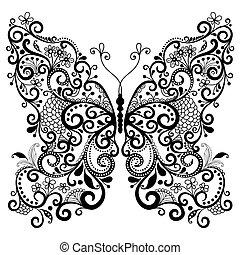 Ein dekorativer Fantasy Schmetterling.