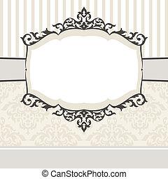 Ein dekorativer klassischer Rahmen