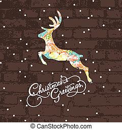 Ein dekoratives Weihnachts Hirsch