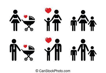 Ein Elternzeichen - Familiensymbole.