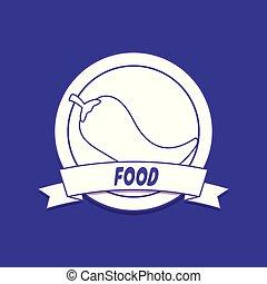 Ein Emblem des Essens