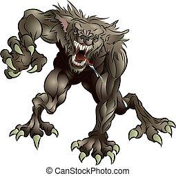 Ein erschreckender Werwolf