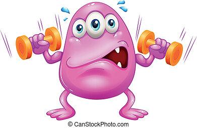Ein fettes rosa Monster.