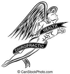 Ein fliegender chiroprakischer Engel