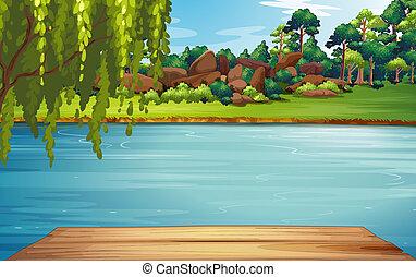 Ein Fluss.