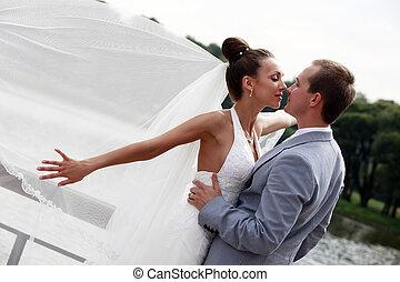 Ein frisch verheiratetes Paar