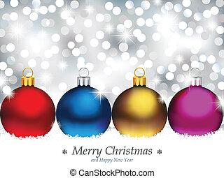 Ein funkelnder Hintergrund mit Weihnachten.