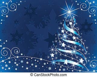 Ein funkelnder Weihnachtsbaum.