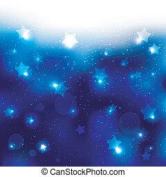 Ein funkelndes blaues Stern-Feier Hintergrund.