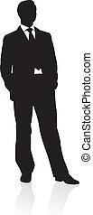 Ein Geschäftsmann im Anzug
