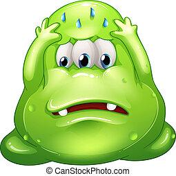 Ein gescheitertes, fettes, grünes Monster