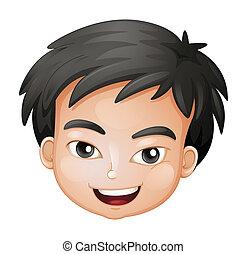 Ein Gesicht eines Jungen
