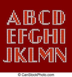 Ein gestricktes Alphabet.