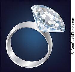 Ein glänzender Diamantring.