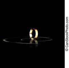 Ein goldener Ring.