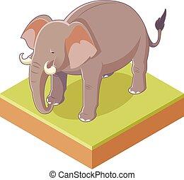 Ein grauer Elefant.