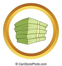 Ein Haufen Geld-Vektor-Icon.