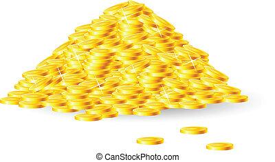 Ein Haufen Goldmünzen